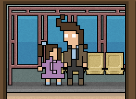 Dad and daughter by Grigoreen