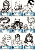 Cryptozoic's DC universe black and white set 1 by SpiderGuile