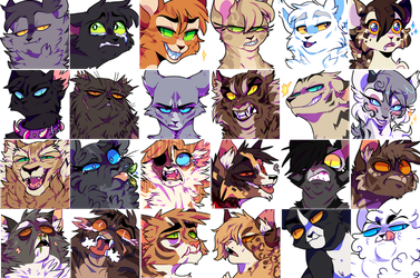 FREE TO USE warrior cats icons by iyd