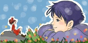 Arrietty and Sho by asami-h
