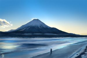 Mt. Fuji drawing by NImportant