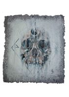 skull study on home made paper #2 by aliceinsane