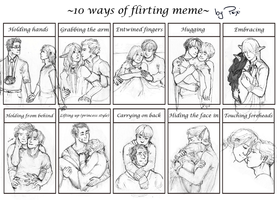 [MEME] 10 Ways of Flirting by PsixiTheRaven