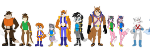 Sonic the Hedgehog Characters: Wolf Pack by DarthGoldstar710