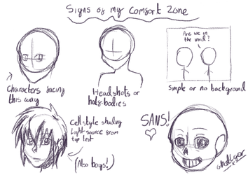 Signs of my comfort zone by GhostLiger