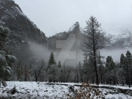 Bridelviel Fall and the Leaning Tower by Yosemite-Stories