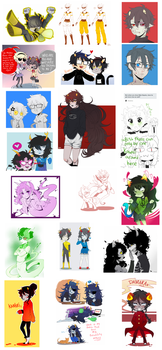 Stupid Homestuck Dump 5 by ShiroiAngelz