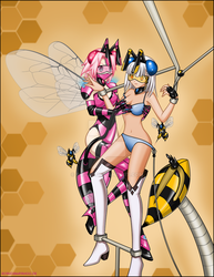commission - Blanc Neige and a nurse bee by Rosvo
