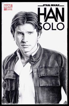 Han Solo sketch cover by whu-wei