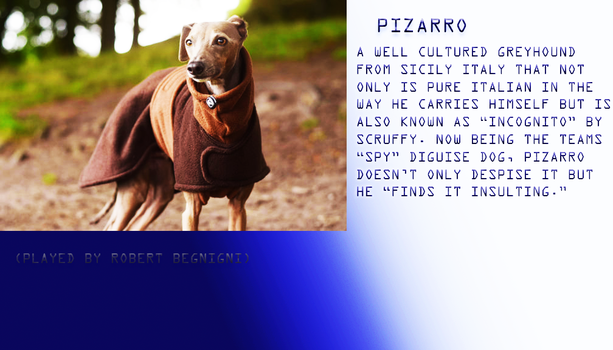 Pizarro Profile by Cinemutt14
