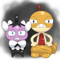 Scraggy and  Gothita