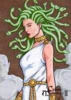 Medusa Sketch Card - Classic Mythology II by ElainePerna