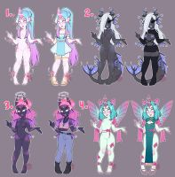 Dextro Guest Adopts Set #3 (CLOSED) by LunaOfWater