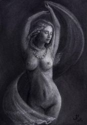 The dance of summer charcoal drawing by GamingDevil538