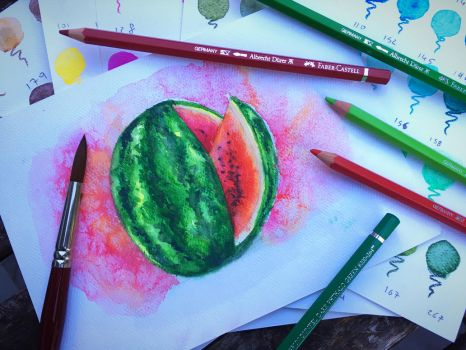 Watermelon watercolour by chiplegal