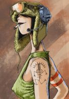 Jet Girl, Tank Girl's best friend  by JeremyWDunn