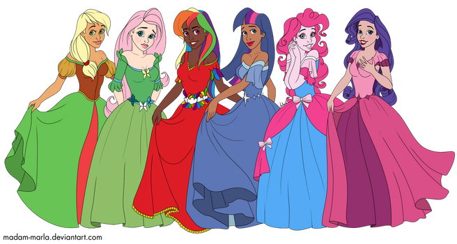 Madam-Marla's My Little Pony Disney Princesses by EmeraldAqua