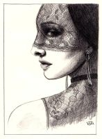 Lace Mask by Feuerlilie