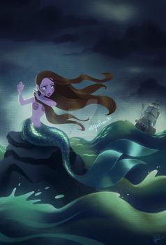 Stormy Mermaid by DylanBonner