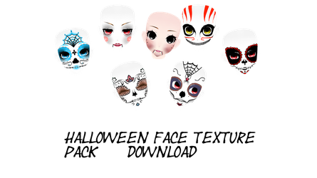 [mmd] face texture pack by RainbowPalm