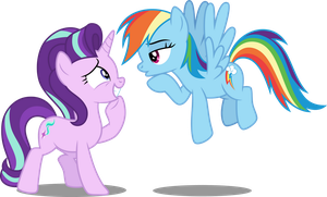 Starlight and Rainbow Dash by DecPrincess