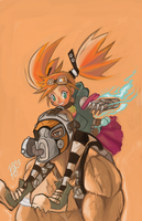 Gaige and Krieg by blueyoshimenace