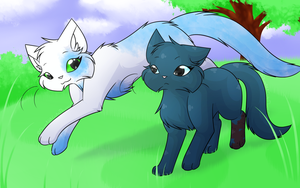 Commission - Running through the grassy field by CuteFlare