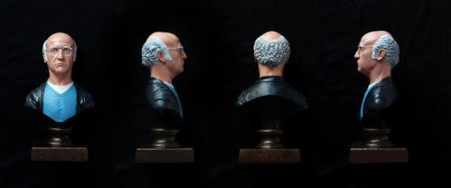 Larry David bust (painted) by CG-imagery