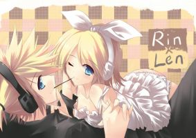 rin and len by cloverworkshop