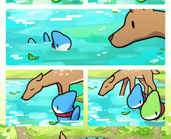 A Deer In the Lake by Vress-shark