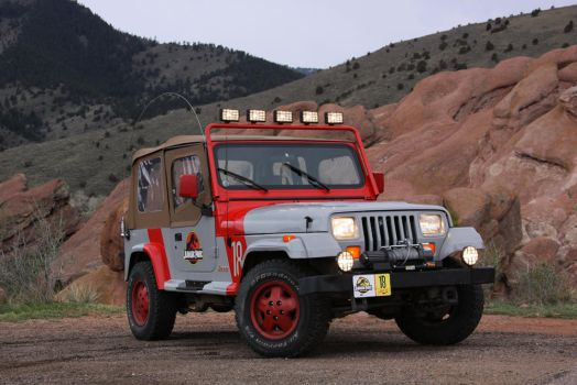 Jurassic Park Jeep at Red Rock by Boomerjinks
