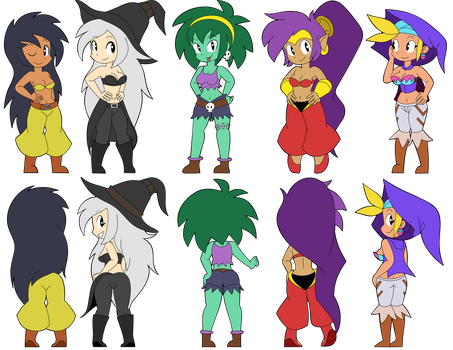 Shantae ladies show off by cutebutwrong