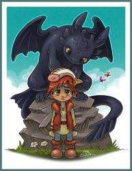 Toothless and Hiccup by TsaoShin