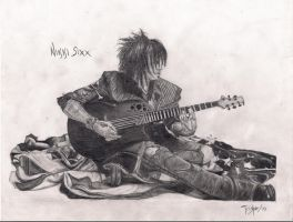Nikki Sixx with Guitar by Acidic-Destruction
