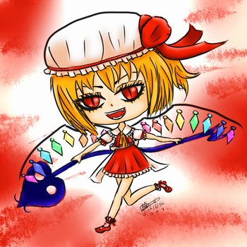 Flandre Scarlet chibi by Pikiwii