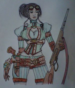 Lady Mechanika by crochetamommy