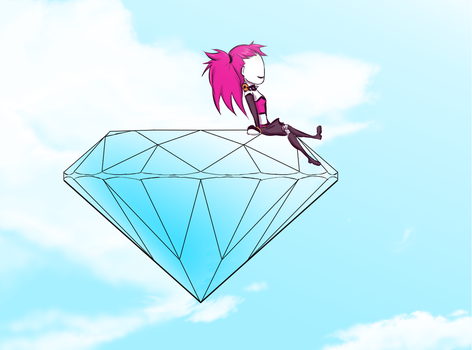 Lucy in the sky with diamond by DarkRavenDemon