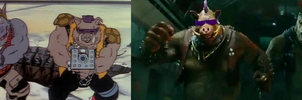 BEBOP AND ROCKSTEADY COMPARISON by TMNTFAN85