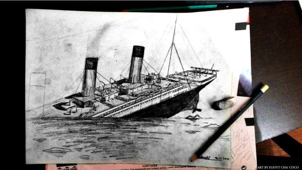 Titanic's final plunge by Eliott-Chacoco