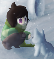 Chara in snowdin by Silentwoofz
