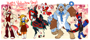 Maskcatz Vday themed batch (close) by onigiryStuff