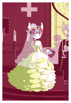 [CONTEST] Sad Bride and Roses by Kreaki