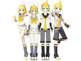 Rin and Len Kagamine (remake) by Sofia313