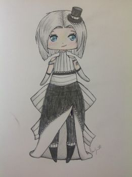 Black and White Adoptable--CLOSED by TheBookishWitch
