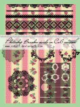 Vintage Ornaments and Lace PS Brushes by Coby17