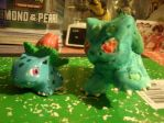 My Clay Bulbasaur by an Ivysaur by Keikoku147
