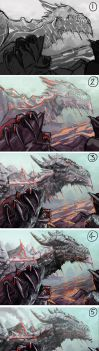 Volcanic Dragon Step by Step by FleetingEmber