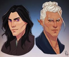 Yvad and Bart by Merwild