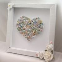 Quilled heart in a frame by InnaAdamenya
