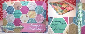 Card: Happy Birthday Hexagons by kendravixie